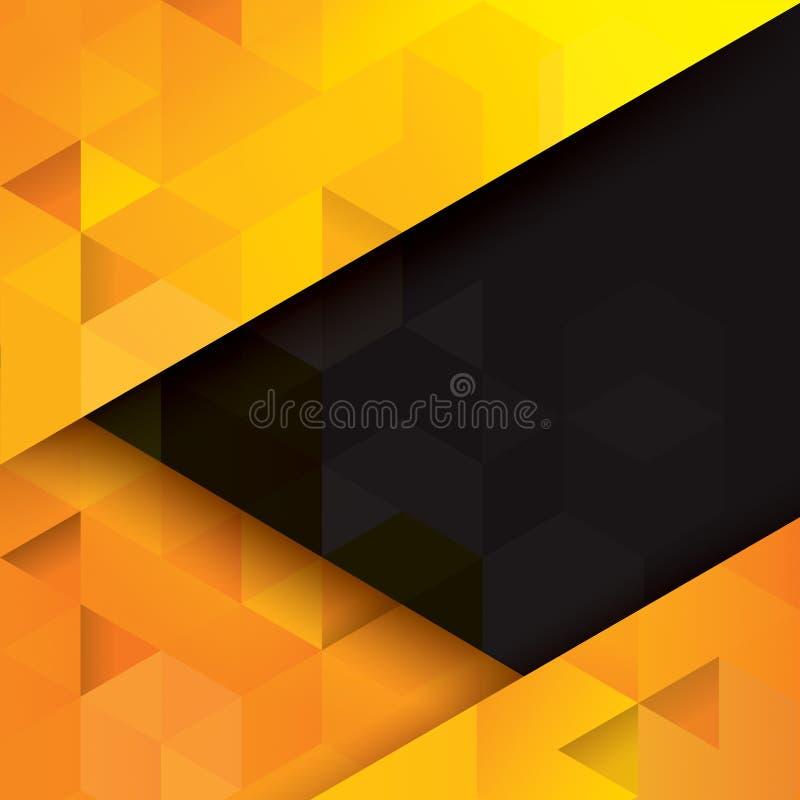 абстрактный желтый цвет черноты предпосылки бесплатная иллюстрация