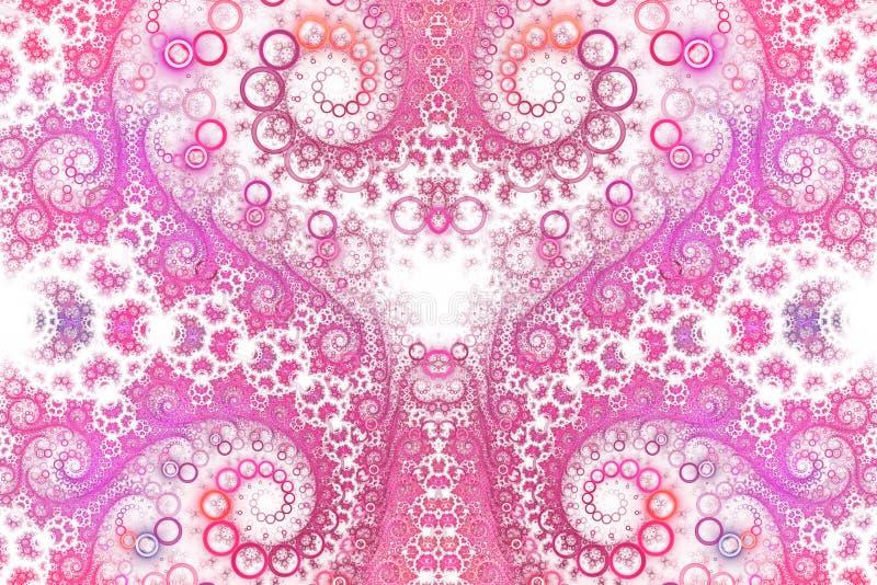 Абстрактный затейливый спиральный орнамент на белой предпосылке бесплатная иллюстрация