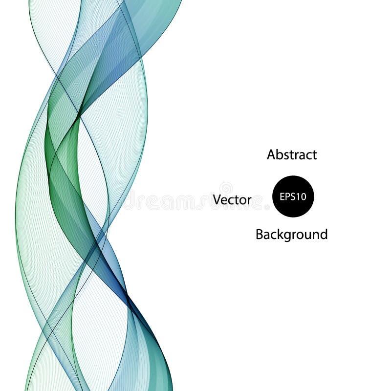 Абстрактный зелено-синий шаблон волны векторные кривые ep 10 иллюстрация штока