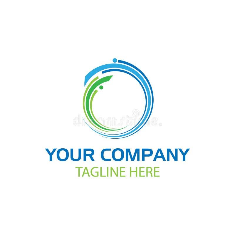 Абстрактный зеленый и голубой круг, логотип технологии бесплатная иллюстрация