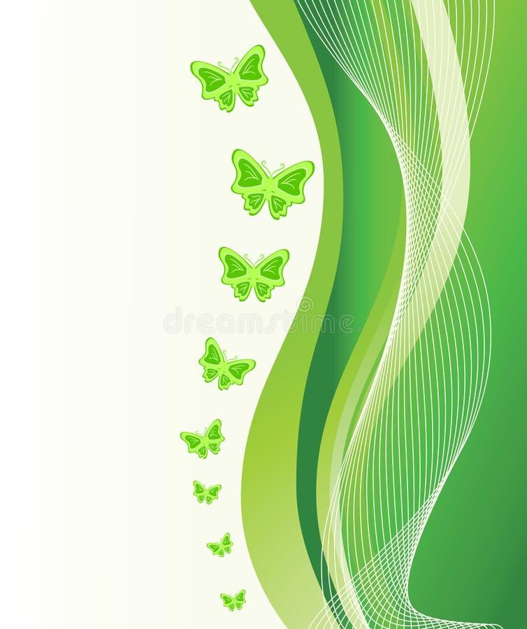 абстрактный зеленый цвет бабочек предпосылки иллюстрация штока