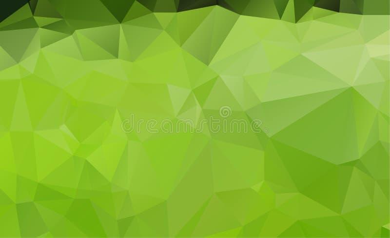Абстрактный зеленый цвет которые состоят из треугольников предпосылка геометрическая иллюстрация штока