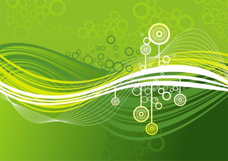 абстрактный зеленый цвет предпосылки иллюстрация штока