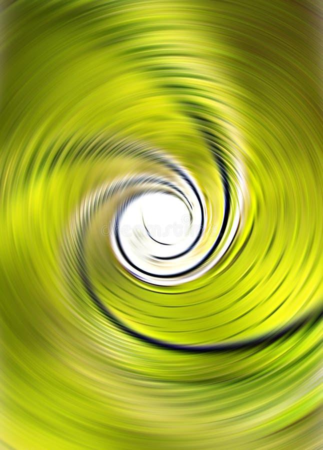абстрактный зеленый twirl иллюстрация штока