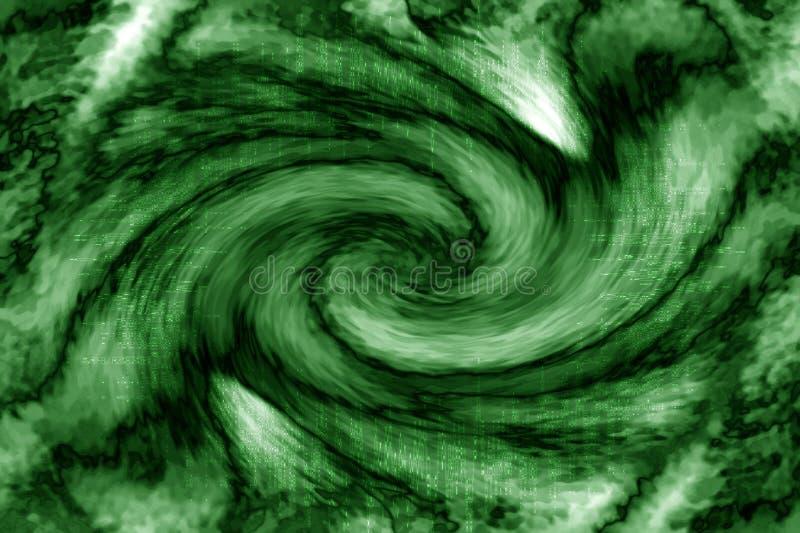 абстрактный зеленый вортекс стоковые изображения rf