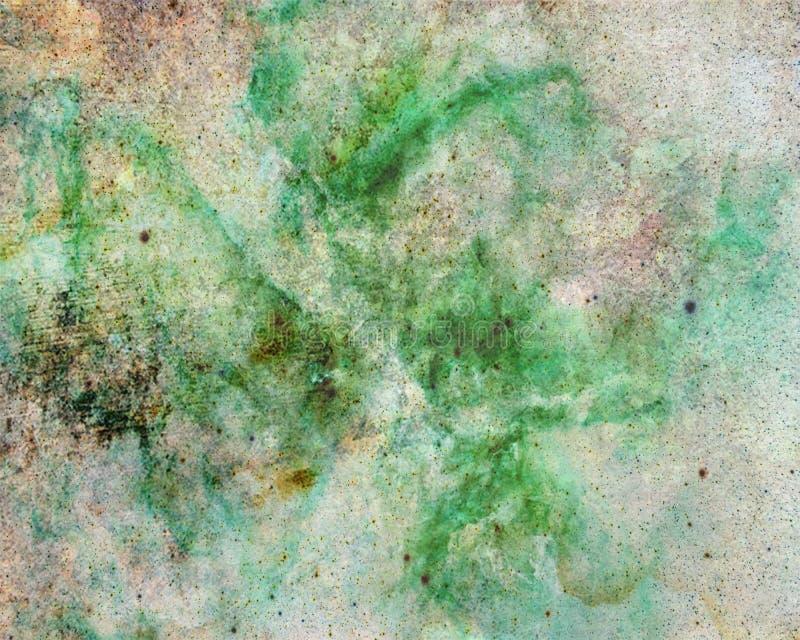 Абстрактный зеленый и белый дизайн предпосылки выплеска цвета с текстурой grunge стоковая фотография rf