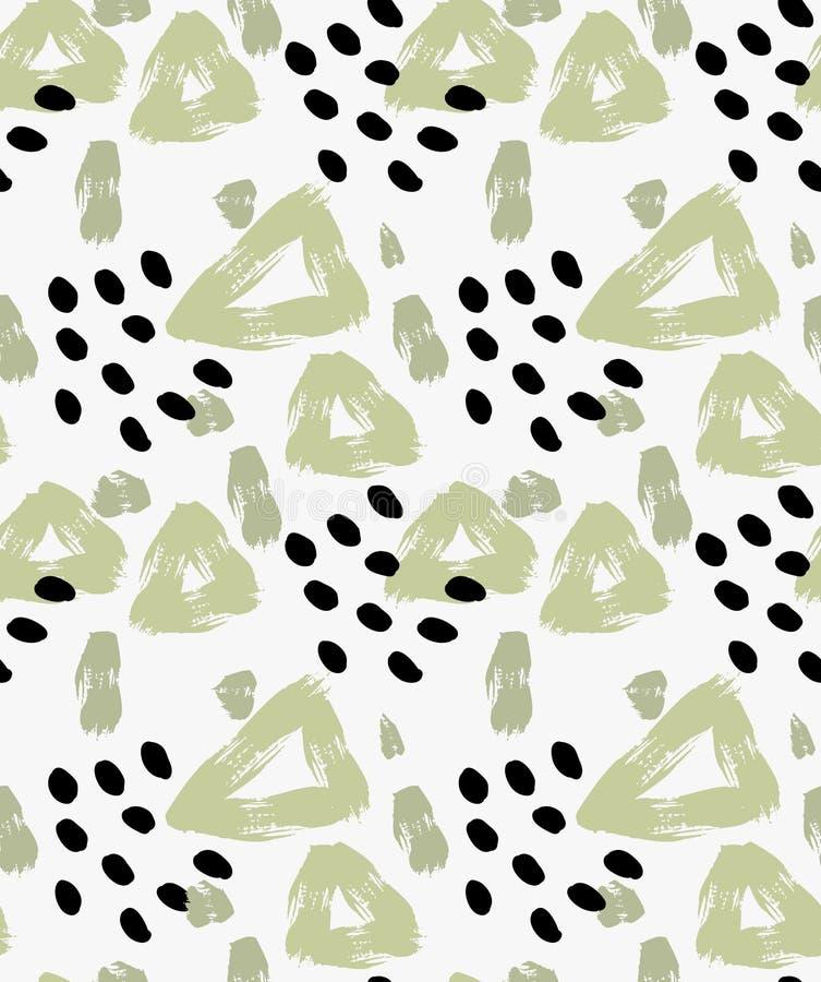 Абстрактный зеленый треугольник с точками бесплатная иллюстрация