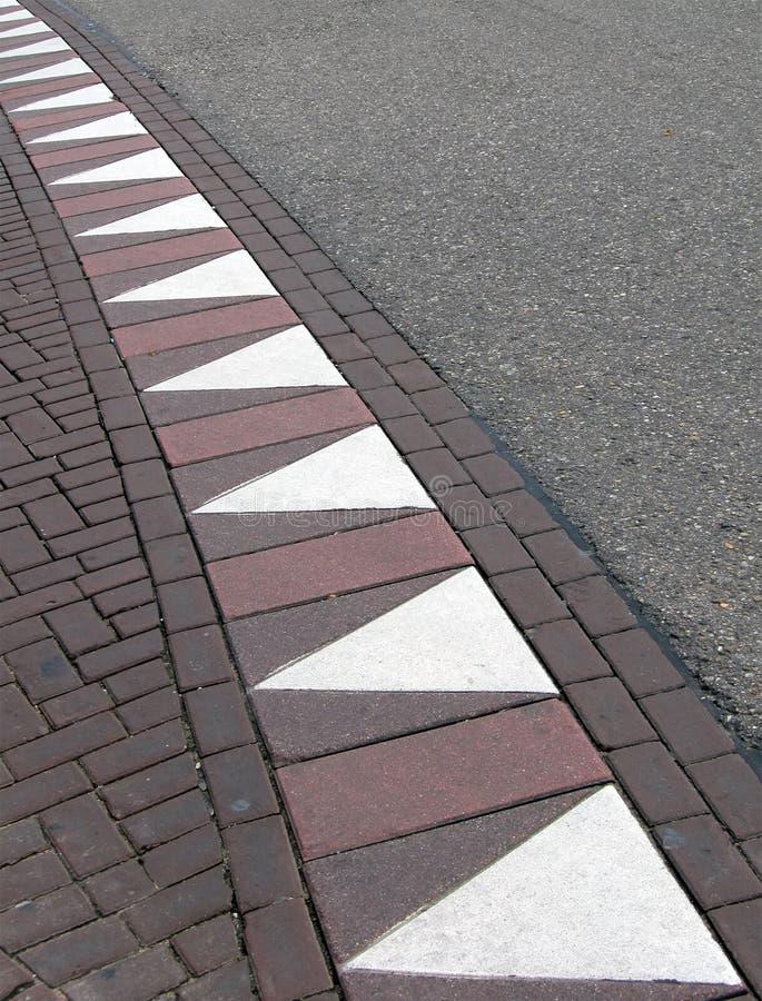 абстрактный зигзаг треугольника перемещения дороги стоковое изображение