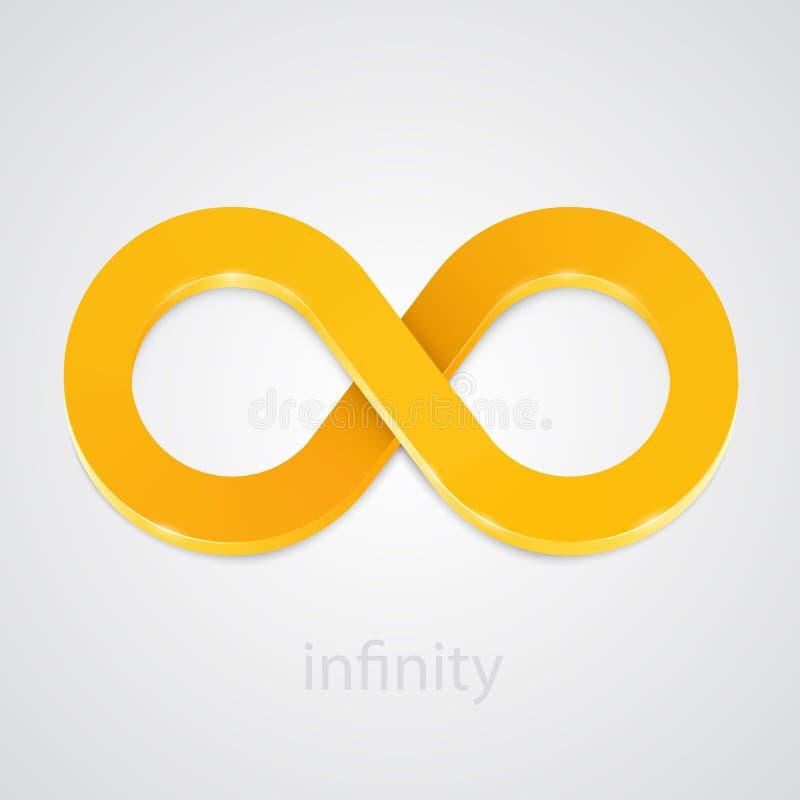 Абстрактный знак золота безграничности вектор бесплатная иллюстрация