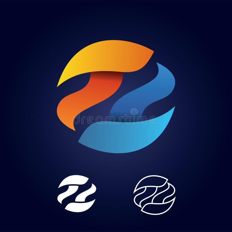Абстрактный знак логотипа круга письма t Бумажный материальный дизайн, квартира и линия стиль - вектор стоковые фото