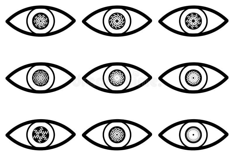 Абстрактный значок глаза иллюстрация вектора