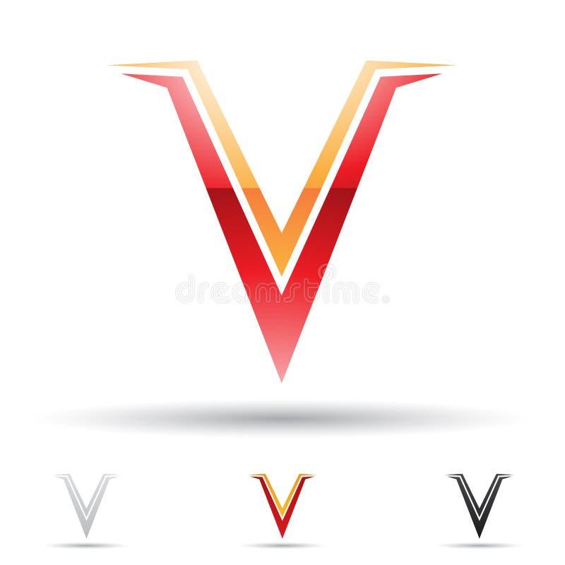 Абстрактный значок на письмо v иллюстрация вектора
