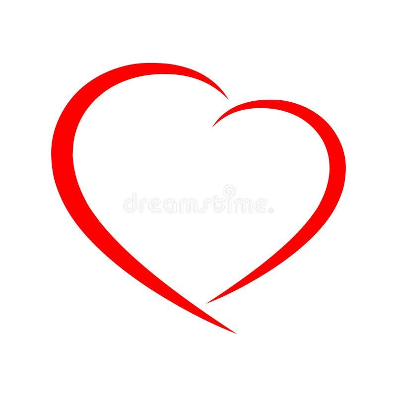 Абстрактный значок сердца также вектор иллюстрации притяжки corel иллюстрация штока