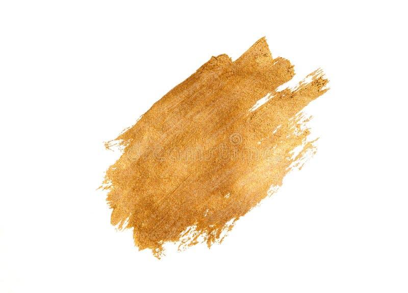 Абстрактный золотой brushstroke на белой предпосылке иллюстрация вектора