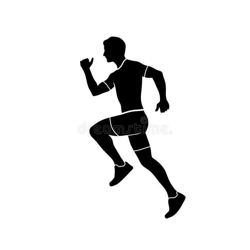 Абстрактный идущий силуэт спорта человека иллюстрация штока
