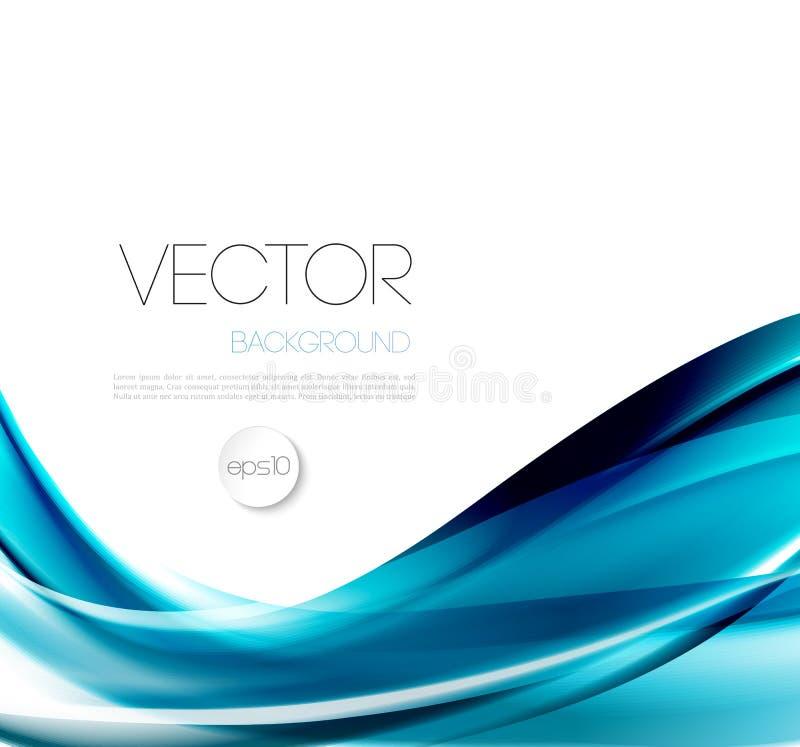 Абстрактный дизайн брошюры предпосылки шаблона волны иллюстрация штока