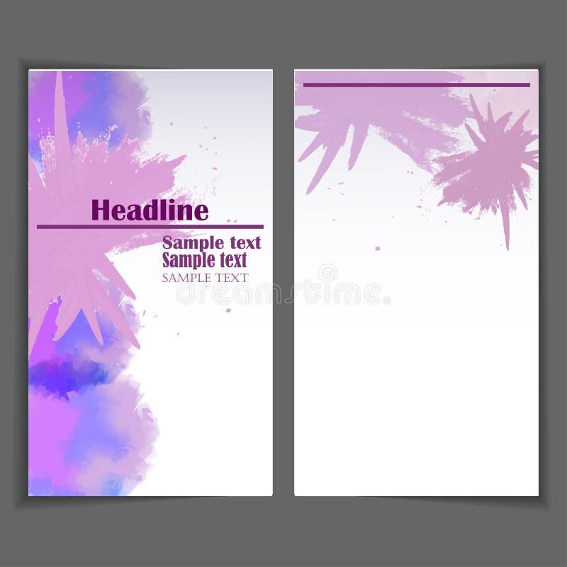 Абстрактный дизайн брошюры стиля акварели бесплатная иллюстрация