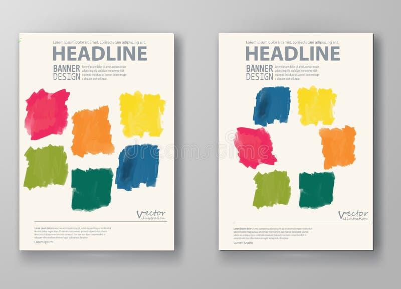 Абстрактный дизайн брошюры стиля акварели иллюстрация вектора