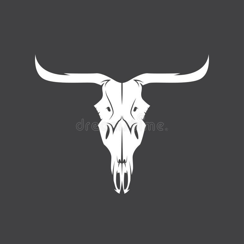 Абстрактный дизайн вектора черепа коровы Техаса бесплатная иллюстрация