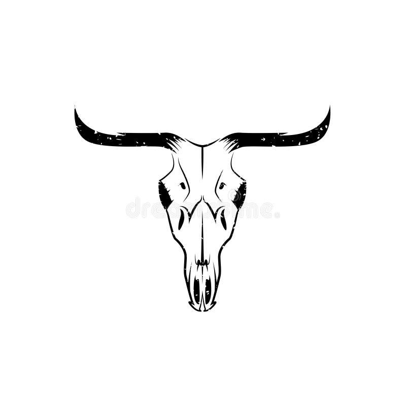 Абстрактный дизайн вектора черепа коровы Техаса grunge бесплатная иллюстрация