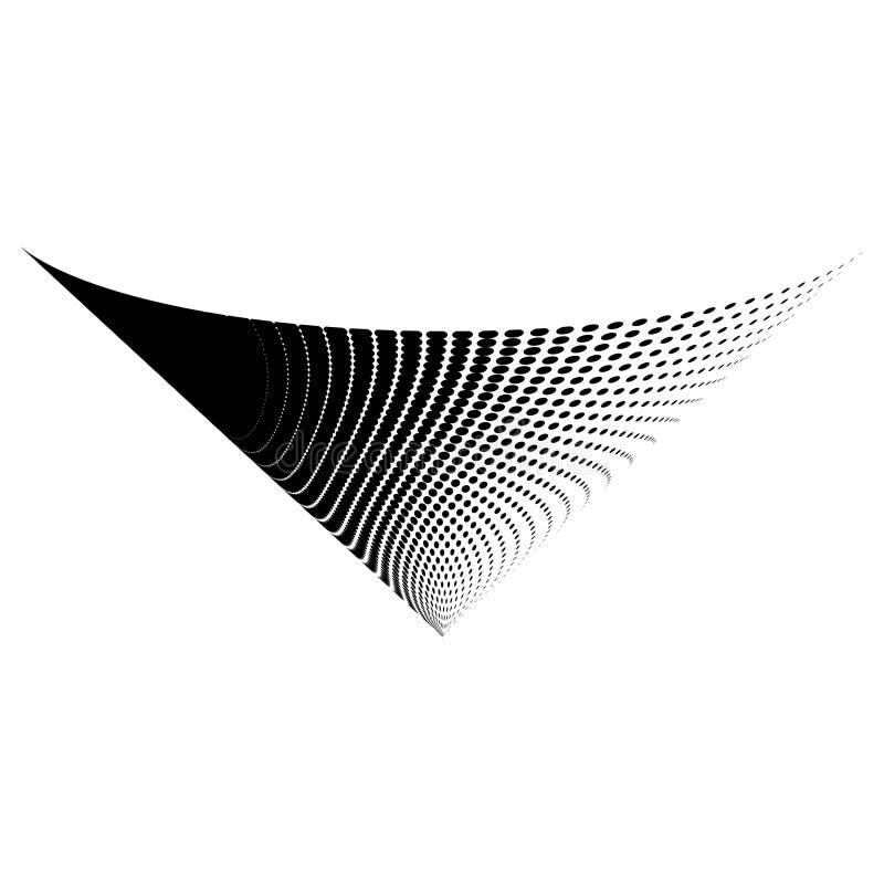 Абстрактный дизайн значка символа логотипа конуса полутонового изображения вектора стоковая фотография