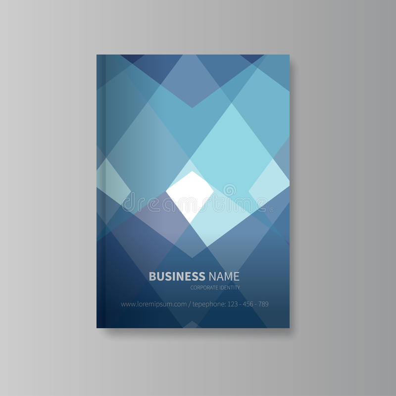 Абстрактный дизайн обложки книги иллюстрация вектора