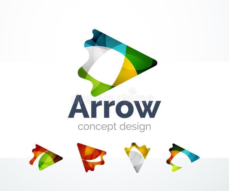 Абстрактный дизайн логотипа стрелки иллюстрация вектора