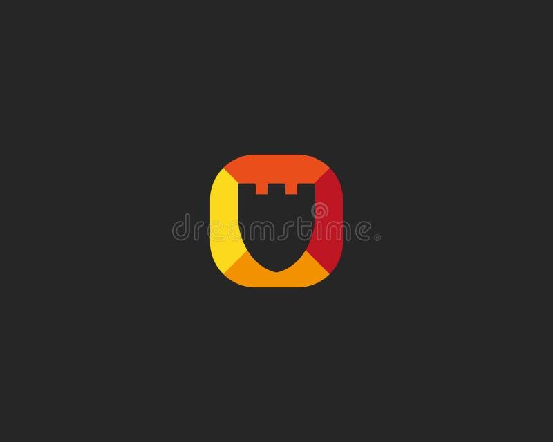 Абстрактный дизайн логотипа экрана Символ защиты творческий Всеобщий значок вектора бесплатная иллюстрация