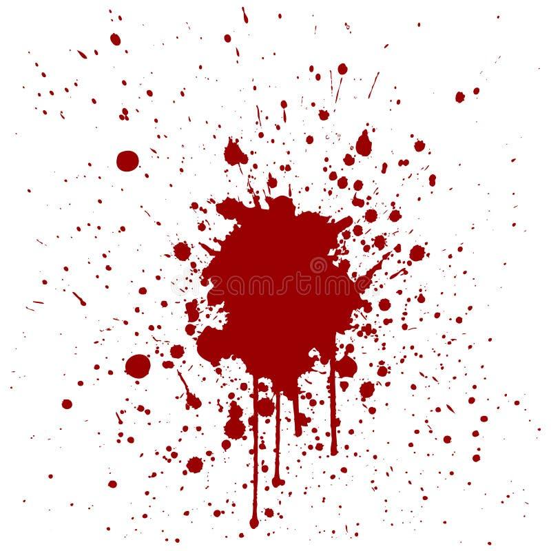 Абстрактный дизайн предпосылки красного цвета splatter vecto иллюстрации бесплатная иллюстрация