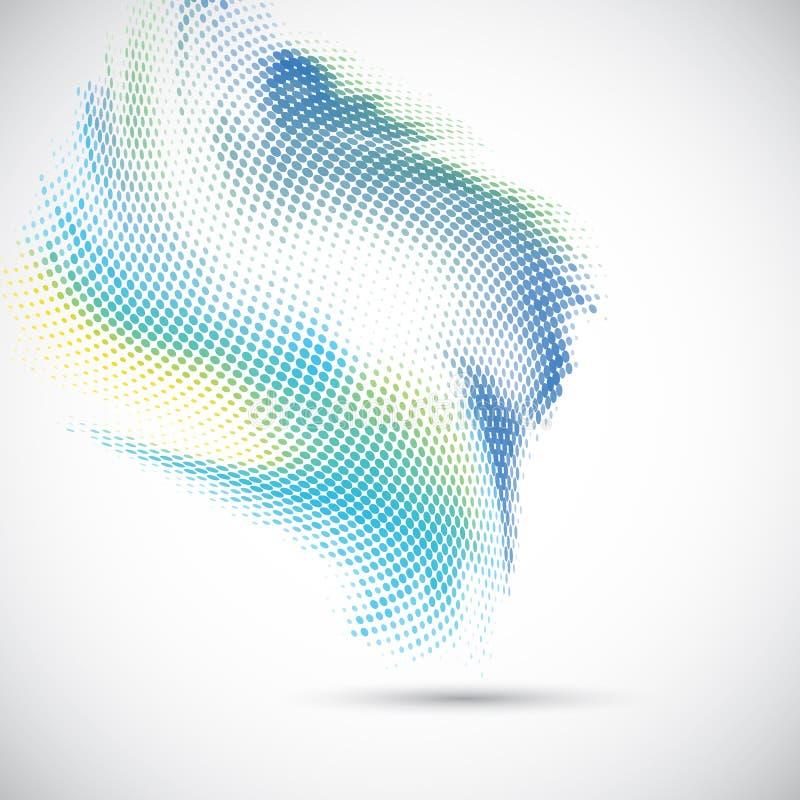 Абстрактный дизайн точек полутонового изображения бесплатная иллюстрация
