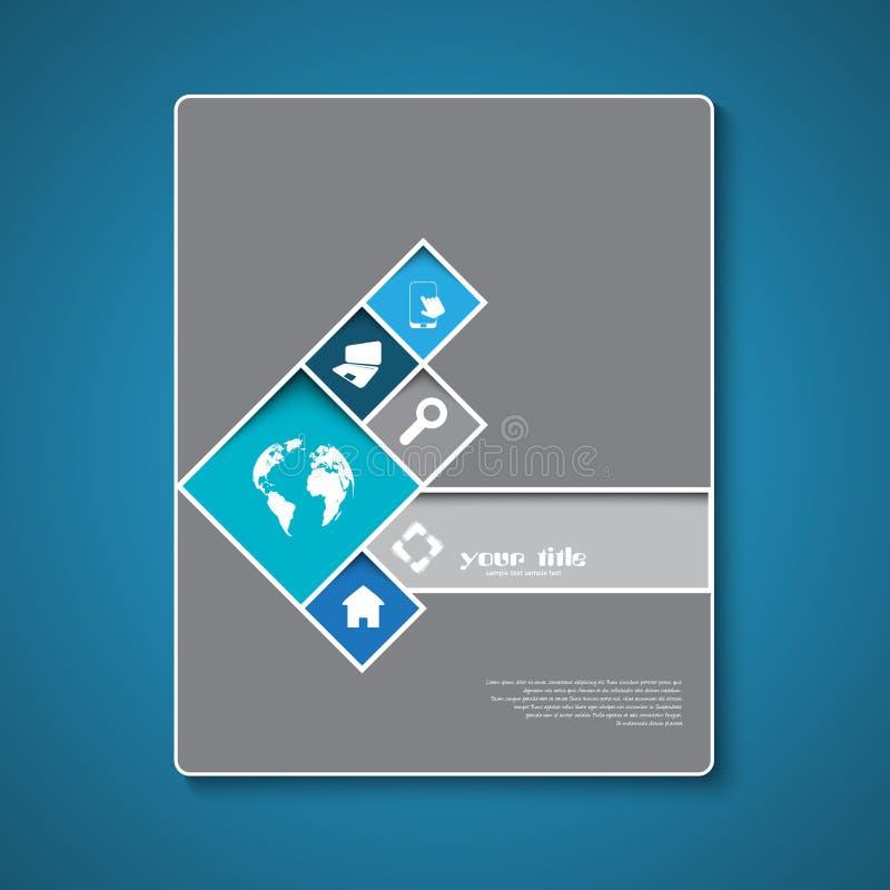 Абстрактный дизайн шаблона брошюры иллюстрация вектора