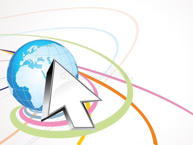 абстрактный интернет принципиальной схемы иллюстрация штока