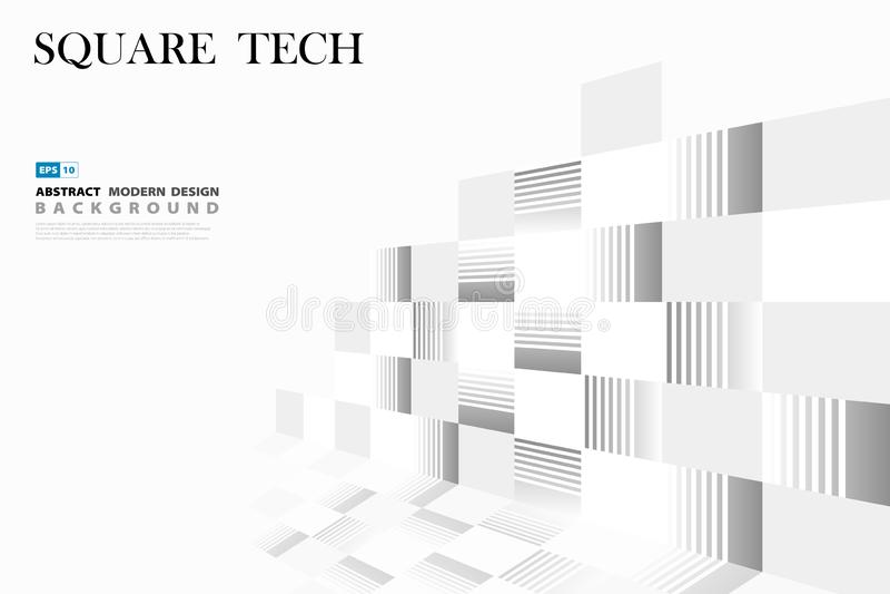 Абстрактный квадратный дизайн крышки картины технологии r иллюстрация штока