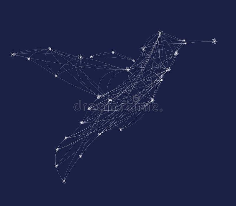 Абстрактный колибри силуэта иллюстрация вектора
