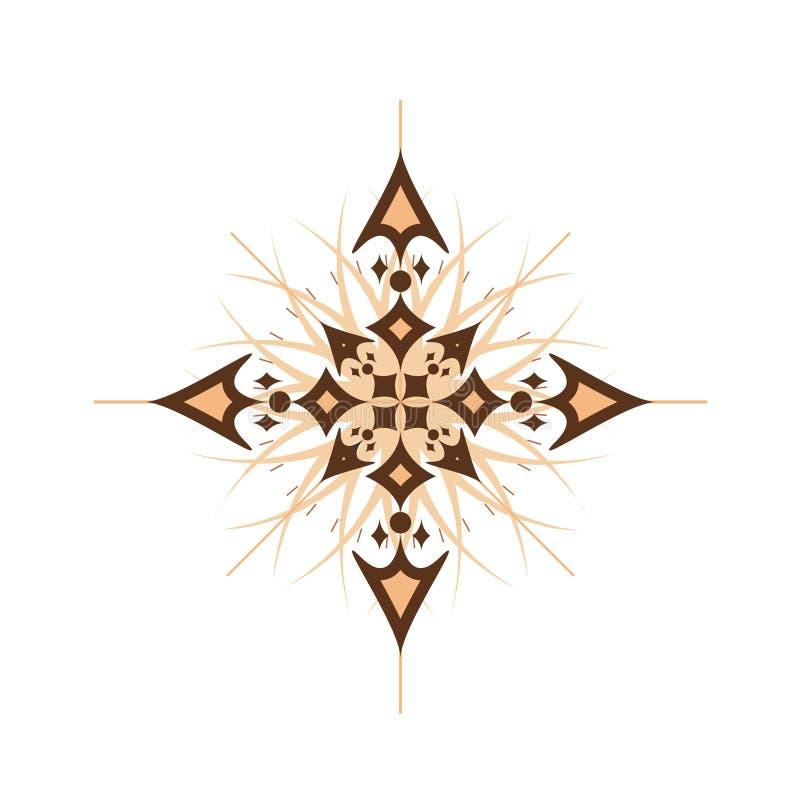 абстрактный компас иллюстрация вектора