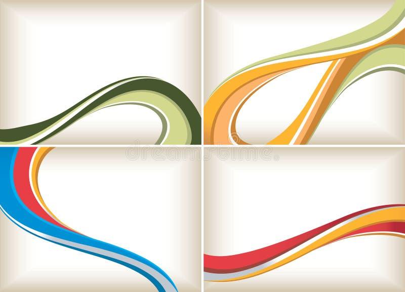 абстрактный комплект кривого предпосылки иллюстрация штока