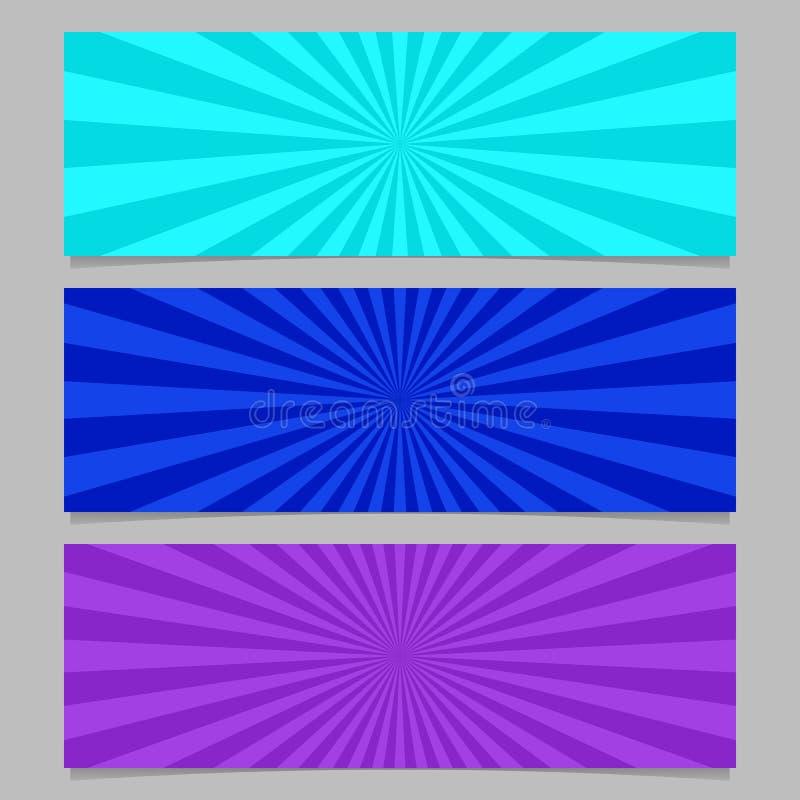 Абстрактный комплект шаблона знамени взрыва луча иллюстрация вектора