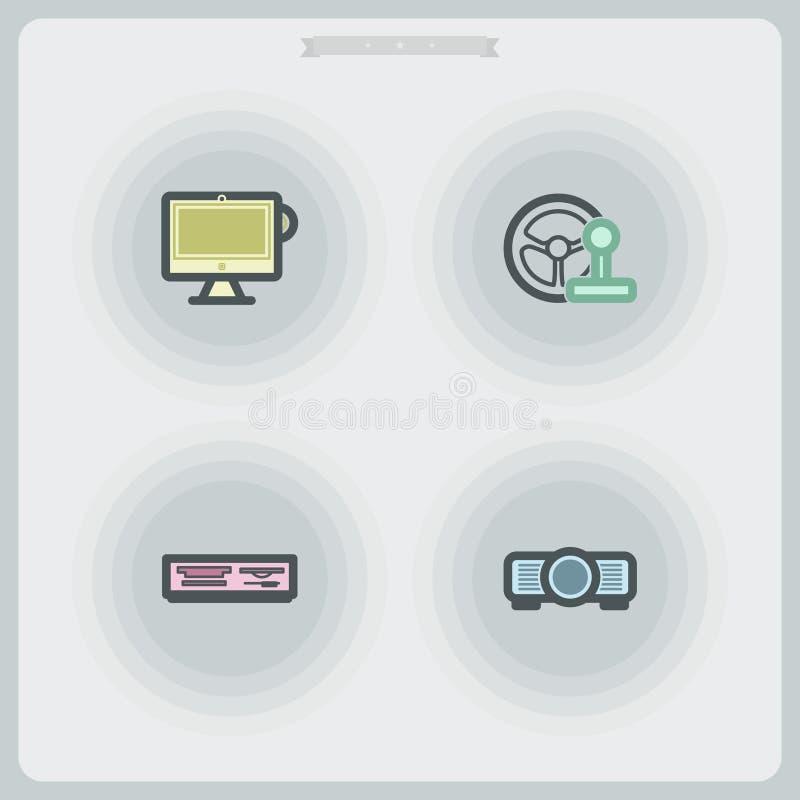 абстрактный компьютер предпосылки разделяет тон sepia иллюстрация штока