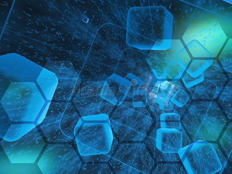 абстрактный компьютер состава предпосылки схематический иллюстрация штока