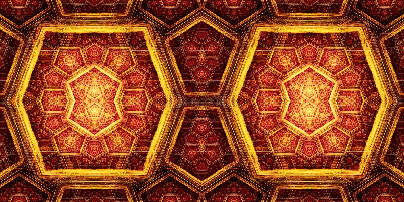 Абстрактный компьютер 3d произвел красочное художественное произведение картин фракталей коробок бесплатная иллюстрация