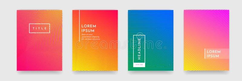 Абстрактный комплект вектора шаблона градиента крышки плаката брошюры книги текстуры картины иллюстрация вектора