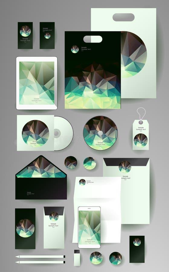 Абстрактный комплект дела Шаблоны фирменного стиля иллюстрация вектора