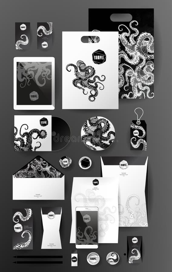 Абстрактный комплект дела Шаблоны фирменного стиля иллюстрация штока