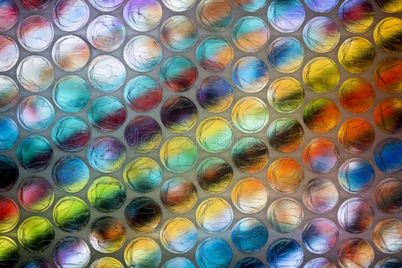 Абстрактный конец вверх по листу обруча пузыря с красочной предпосылкой стоковое фото rf
