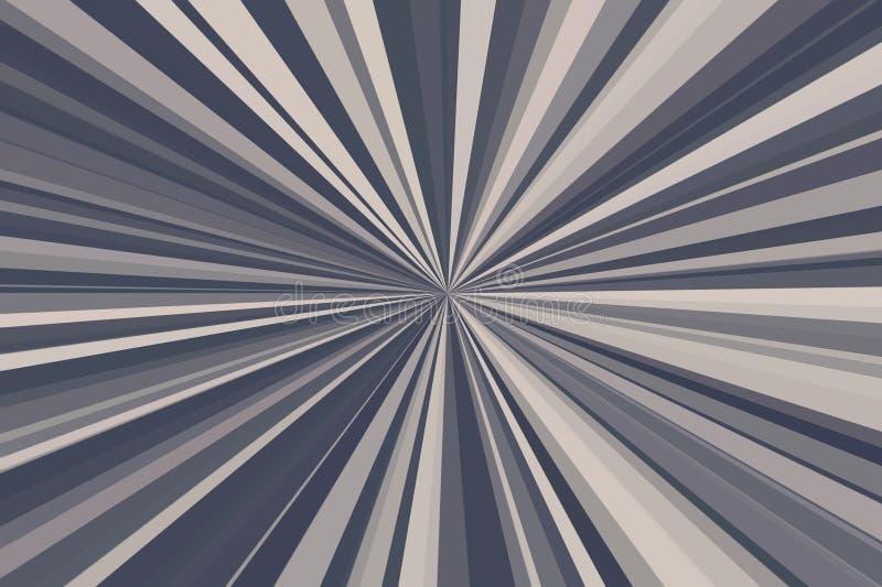 Абстрактный коричневый кофе излучает предпосылку Красочная конфигурация пучка излучения нашивок Цвета тенденции стильной иллюстра стоковое фото