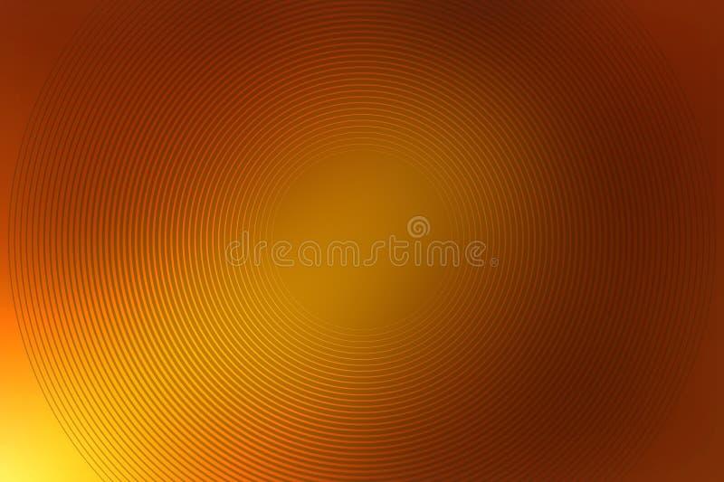 Абстрактный коричневый цвет градиента предпосылки радиальный золотой шоколад иллюстрация штока
