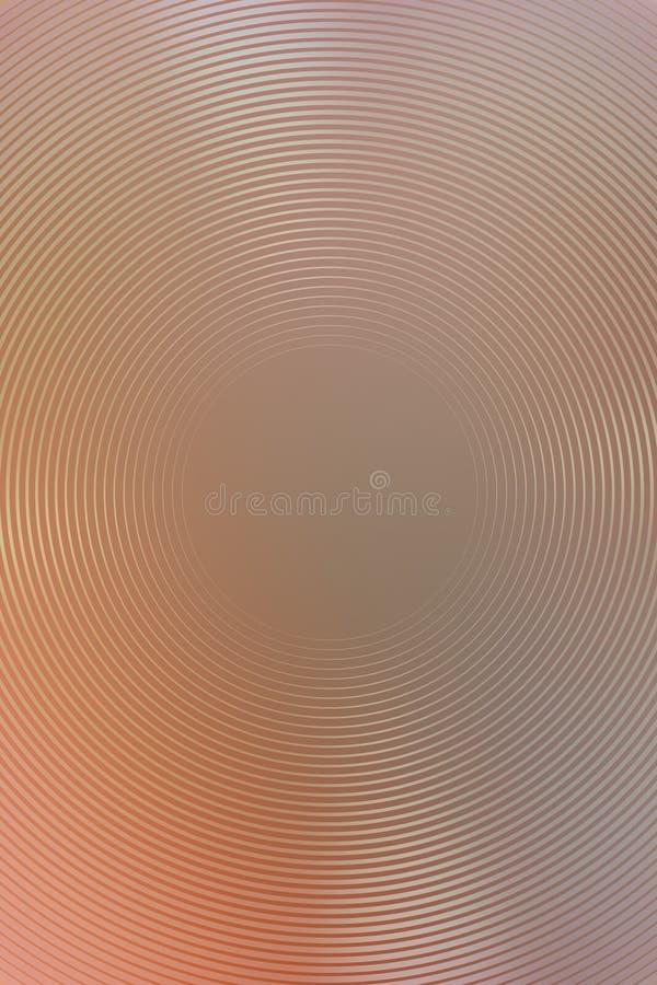 Абстрактный коричневый цвет градиента предпосылки радиальный фольга иллюстрация вектора