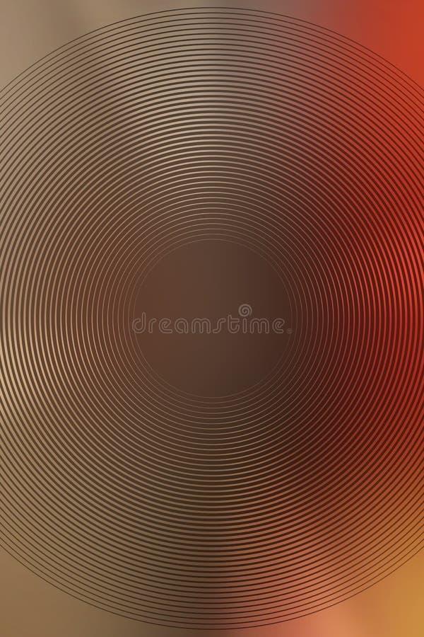 Абстрактный коричневый цвет градиента предпосылки радиальный фон круглый иллюстрация вектора