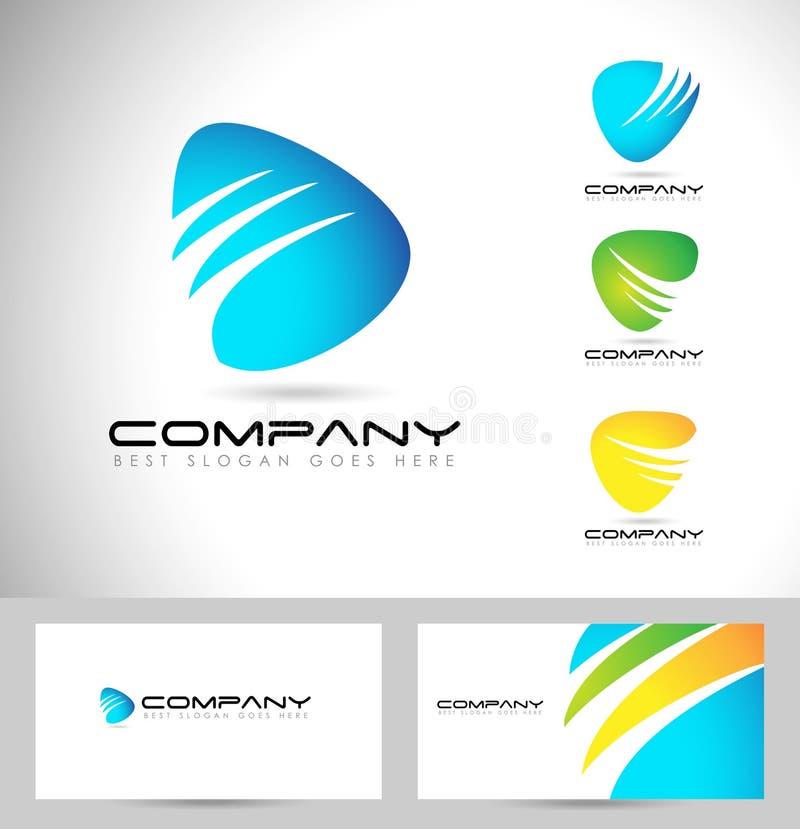 Абстрактный корпоративный дизайн логотипа бесплатная иллюстрация