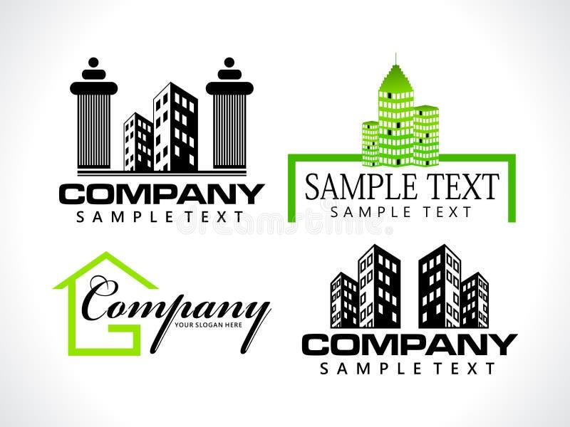 абстрактный корпоративный шаблон логоса иллюстрация штока